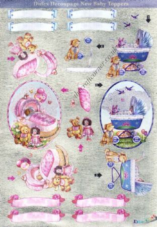 Baby Toppers Die Cut 3d Decoupage Twin Pack From Dufex